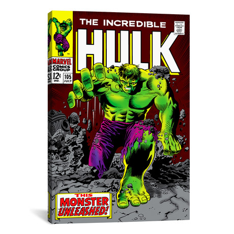 "Hulk Issue Cover #105 (26""W x 18""H x 0.75""D)"