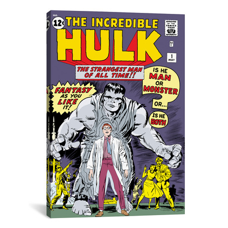 "Hulk Issue Cover #1 (26""W x 18""H x 0.75""D)"
