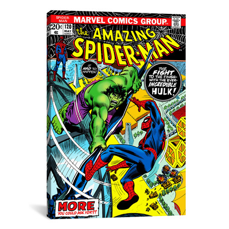 "Spider-Man Issue Cover #120 (26""W x 18""H x 0.75""D)"