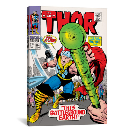 "The Mighty Thor, Issue #144 Cover (26""W x 18""H x 0.75""D)"
