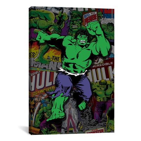 "Hulk Covers Collage (26""W x 18""H x 0.75""D)"