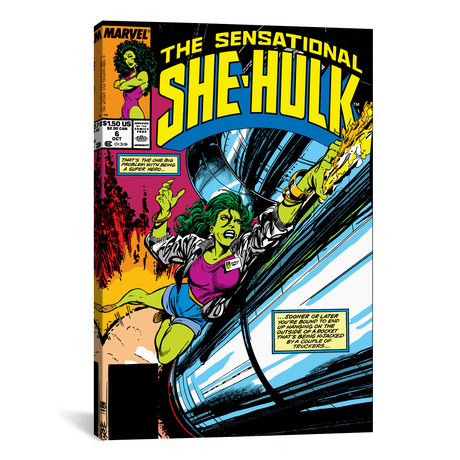 "She-Hulk: The One Big Problem With Being A Super Hero, Comic (26""W x 18""H x 0.75""D)"