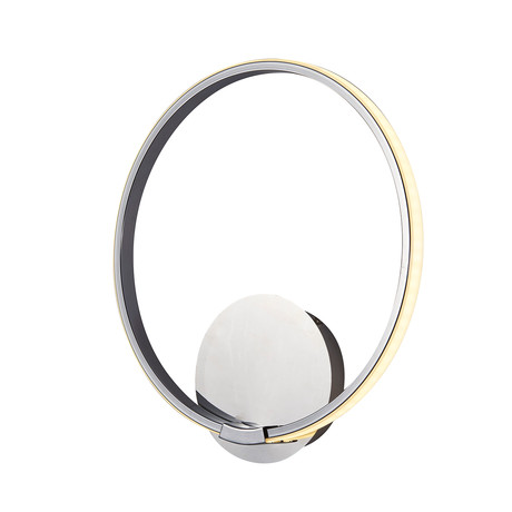 Modern Circle // Single LED Wall Sconce