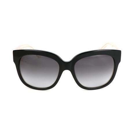 The Taylor // L3G-F8 Sunglasses // Black Bone Crystal