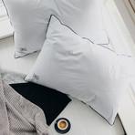 White Down Side & Back Sleeper Overstuffed Pillow (Standard/Queen)