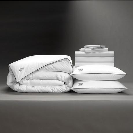 Classic Cool + Crisp Perfect Bedding Bundle // White Goose Down // White (Full)
