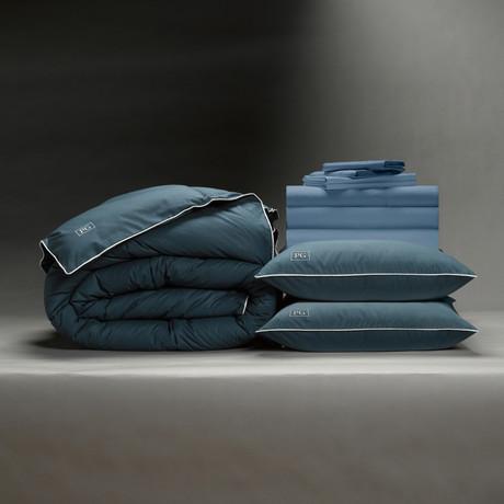 Luxe Soft + Smooth Perfect Bedding Bundle // Down Alt Gel Fiber // Cadet Blue (Full)