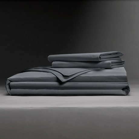 Luxe Soft + Smooth Tencel™ Duvet Cover Set // Charcoal (Full/Queen)