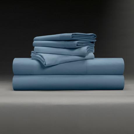 Luxe Soft & Smooth TENCEL™ // 6-Piece Sheet Set // Cadet Blue (Full)