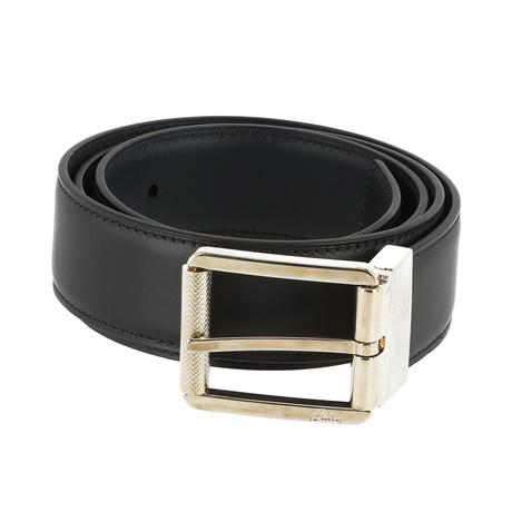 Classic Leather Belt // Dark Blue Black (Euro: 80)