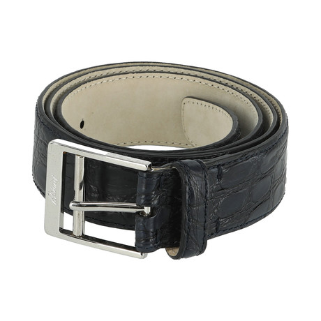 Classic Leather Belt // Ink + Black (Euro: 80)