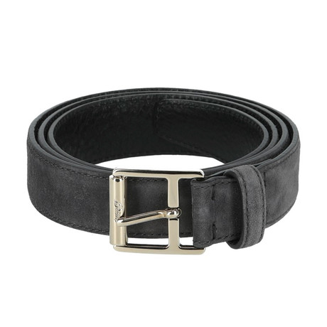 Classic Leather Belt // Dark Brown + Taupe (Euro: 80)