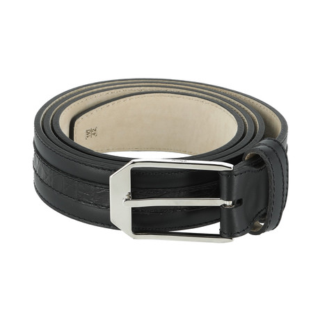 Classic Leather Belt // Ink (Euro: 80)