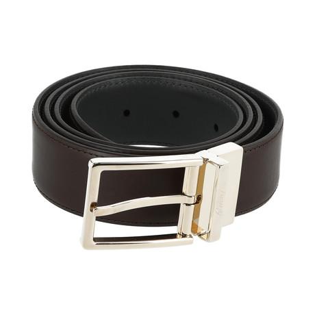 Reversible Leather Belt // Oxblood (Euro: 80)