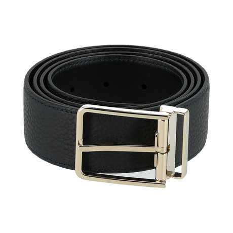 Reversible Leather Belt // Ink (Euro: 80)