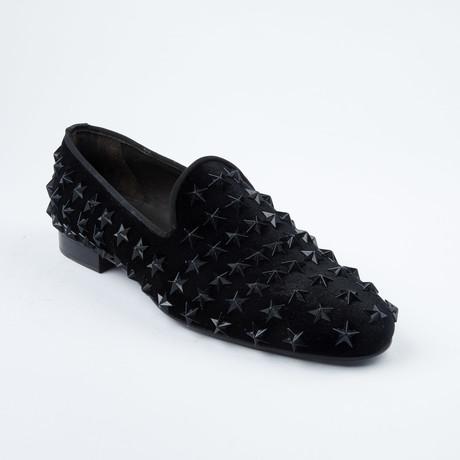 Star-Studded Slip-On Loafer // Black (Euro: 42)