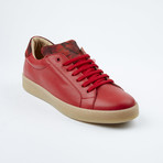Camo Tongue Lace-Up Sneaker // Red (Euro: 42)