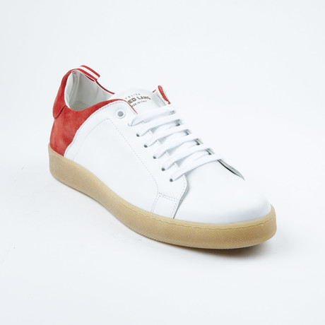 Two=Tone Lace-Up Sneaker // White + Red (Euro: 42)