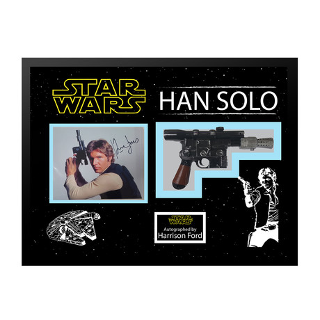 Signed + Framed Blaster Collage // Han Solo
