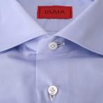 ISAIA // Giuseppe Dress Shirt // Blue (US: 17.5R)