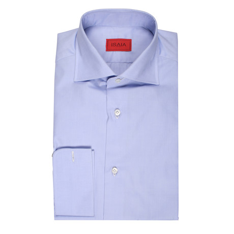 ISAIA // Giuseppe Dress Shirt // Blue (US: 15R)
