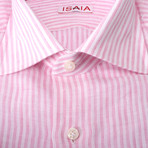 Nicholas Striped Dress Shirt // Pink (US: 15R)