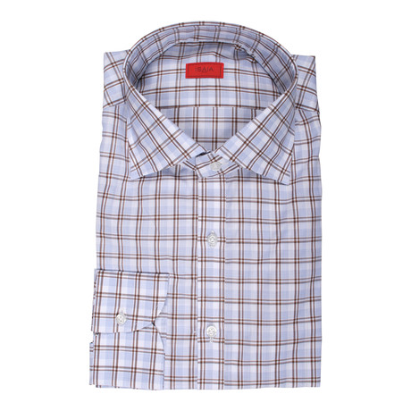 Vincenzo Checkered Dress Shirt // Blue (US: 15R)