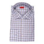 Vincenzo Checkered Dress Shirt // Blue (US: 16R)