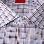 Vincenzo Checkered Dress Shirt // Blue (US: 17R)