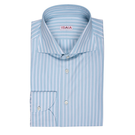 Terranova Striped Dress Shirt // Teal (US: 15R)