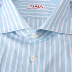 Terranova Striped Dress Shirt // Teal (US: 15.5R)