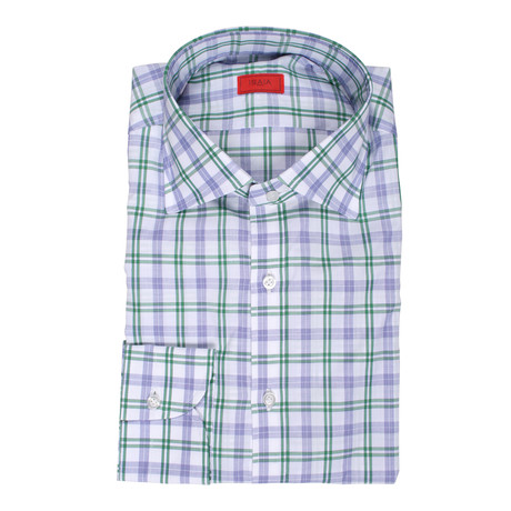 Masseria Checkered Dress Shirt // Purple +  Green (US: 15R)