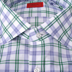 Masseria Checkered Dress Shirt // Purple +  Green (US: 16R)