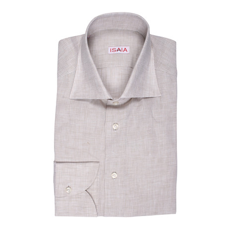 Isaia // Costello Dress Shirt // Beige (US: 15R)