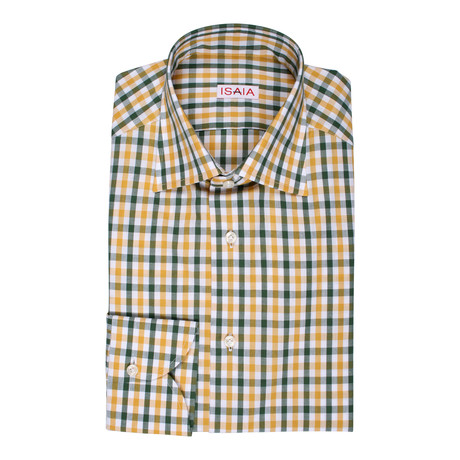 Salerno Checkered Dress Shirt // Yellow + Green (US: 15R)