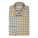 Isaia // Salerno Checkered Dress Shirt // Yellow + Green (US: 16.5R)