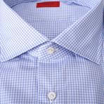 Bellomo Checkered Dress Shirt // Blue (US: 15R)