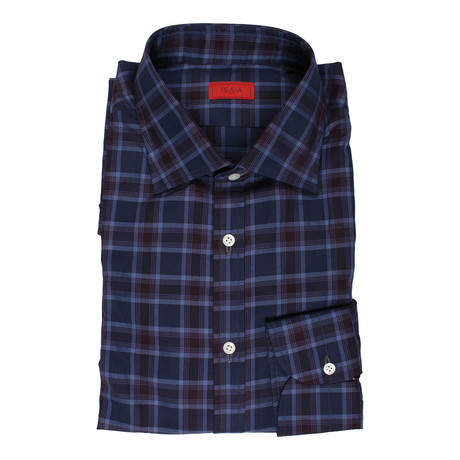 Ianniello Checkered Dress Shirt // Purple (US: 15R)