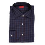 Isaia // Mario Checkered Dress Shirt // Purple (US: 16.5R)