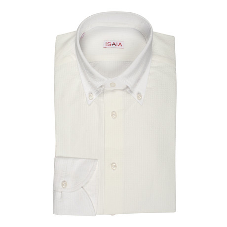 Isaia // Catena Dress Shirt // White (US: 15R)