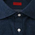 ISAIA // Santora Dress Shirt // Navy Blue (US: 15.75)