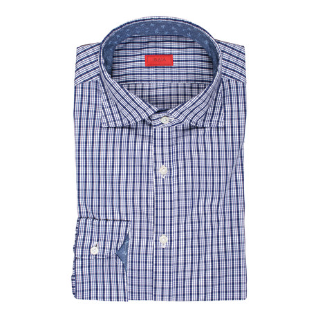 Carfano Checkered Dress Shirt // Blue (US: 15R)