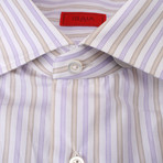 Coppola Striped Dress Shirt // Purple (US: 16R)