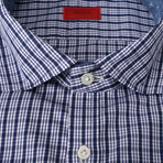 Carfano Checkered Dress Shirt // Blue (US: 16R)