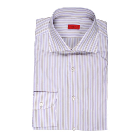 Coppola Striped Dress Shirt // Purple (US: 15R)