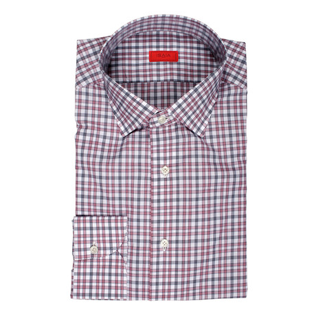 Vito Checkered Dress Shirt // Red (US: 15R)