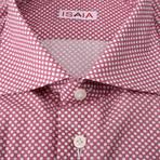 ISAIA // Angelo Polka Dot Dress Shirt // Wine (US: 16.5R)