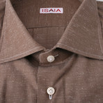 Isaia // Fiumara Dress Shirt // Brown (US: 15.75)