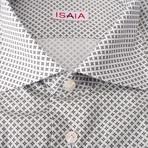 Cafaro Paterned Dress Shirt // White (US: 16.5R)