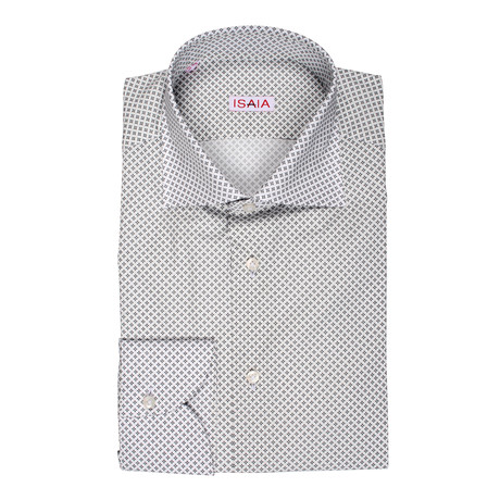 Cafaro Paterned Dress Shirt // White (US: 15R)